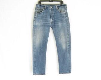 "Vintage LEVIS 501 Straight Leg Grunge Jeans.  Tagged size 35 x 34. Waist Measures 33"""