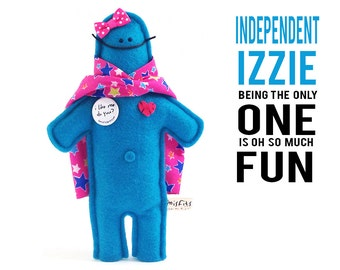 "The Mefits Independent Izzie Doll & Storybook ""Being the only one is fun!"""
