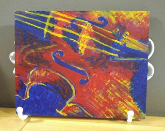 Primary Instrument original acrylic painting