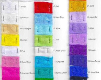 DDNJ Organza Color Chart For Customer Use Only NOT for SALE