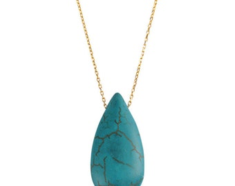 One Drop Turquoise Necklace