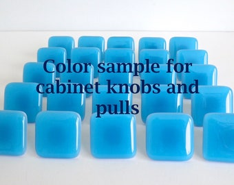 Color sample for Fused Glass Cabinet Door Knobs and Pulls by BPRDesigns