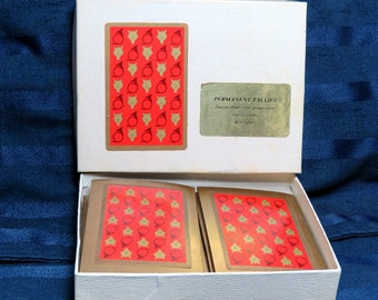 Vintage Bridge Tally Set in Original Box/ Set of 8