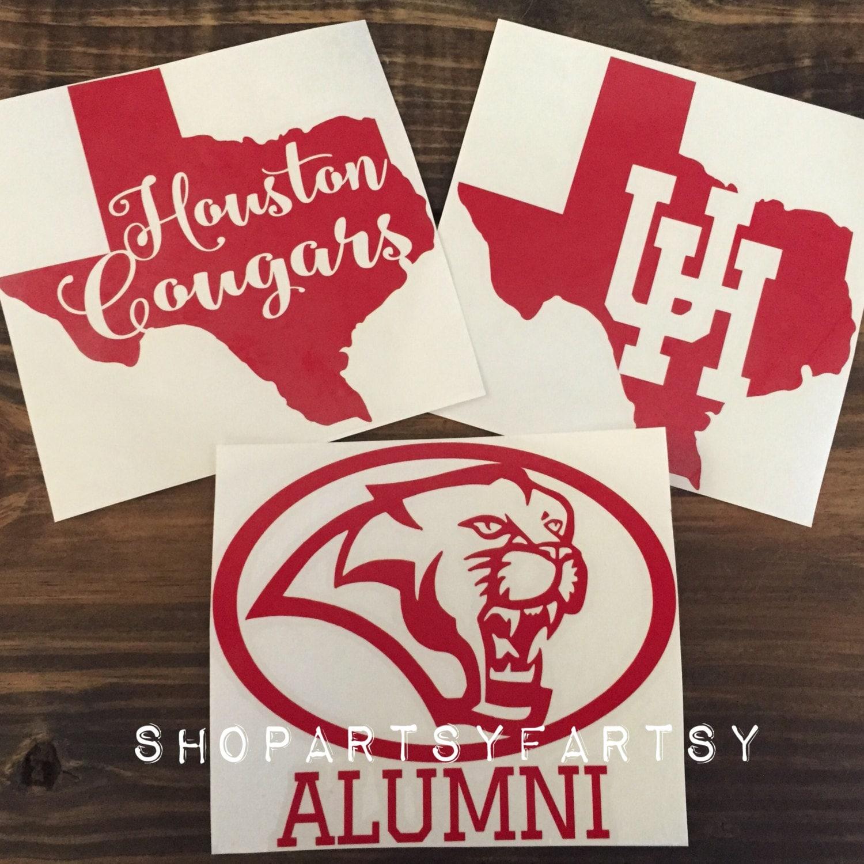 University Of Houston Decal Houston Cougars Decal Art - Vinyl decals houston tx
