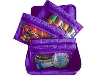 Yazzii 4-Pocket Organizer - PURPLE