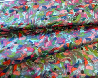Vintage Psychedelic Fabric Marbled 1960's