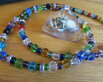 Colorful frog moon jewelry