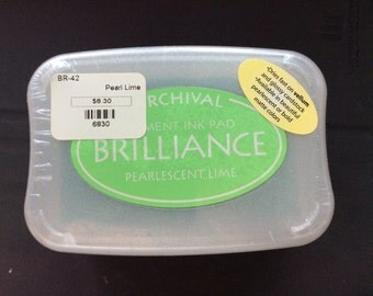 Brilliance Pigment Ink Pearlescent Lime
