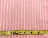 Ticking Stripe Pink White fabric   Cotton Quilting fabric