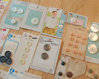 Large Collection Of Vintage Button Cards and Buttons.