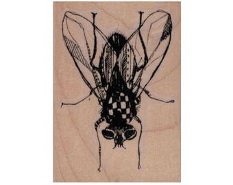 rubber stamp Steampunk house fly steampunk zentangle art stamps original design by Mary Vogel Lozinak no 20107