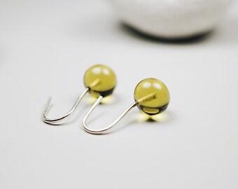Venetian Glass Jewelry // Olive Green // Venetian Glass // Lampwork Jewelry