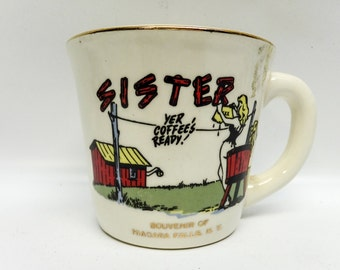 Vintage Sister mug - Niagara Falls souvenir