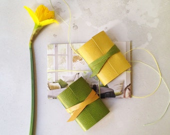 Mini Journal: Lemon Lime Citrus leather notebook Easter, Mother's Day, Wedding Favor gift Made in Britain Ships worldwide Gifts for Girls