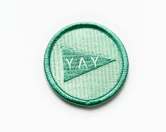 Iron-on YAY Pennant Patch