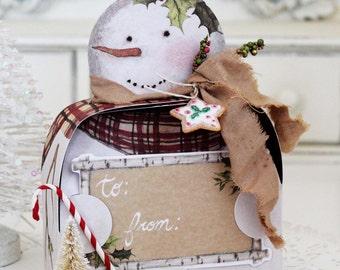 Jolly Snowman Gift Box Kit