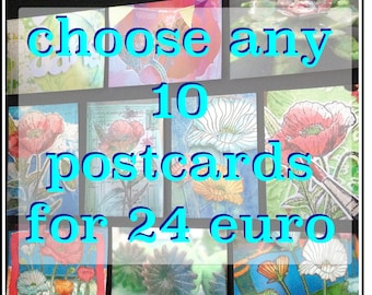 save with card sets, choose any 10 cards, pick any 10 cards, best friend gift box, postcard, art prints, housewarming gifts, gift set