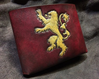 Leather Lannister wallet  Game of Thrones