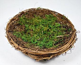 Bird Nest - 8 inch Moss Bird Nest - Woodland - Rustic Wedding Decor Centerpiece - Nest with Moss - Floral Supplies