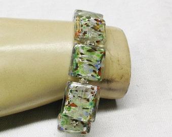 1950s Vintage Confetti Lucite Stretch Bracelet