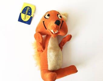 Dream Pets Fox Orange fox Stuffed Animal 1970s Wolfgang New old stock Dakin