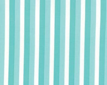 FABRIC SUMMER RAIN Aqua Ombre Stripes by Moda    We combine shipping