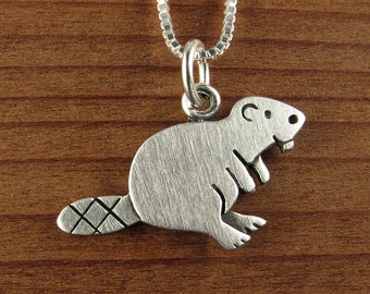 Tiny beaver necklace / pendant