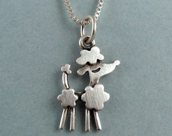 Tiny poodle necklace / pendant