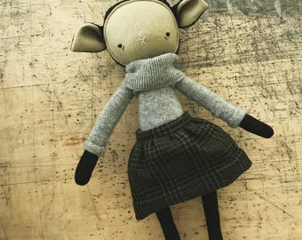 "the foundlings | handmade cloth lamb doll | ""astrid"""