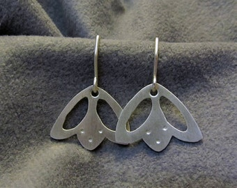 Argentium Silver Cutout Flower Earrings