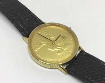 Gold Coin Mickey Mouse Lorus Quartz Watch