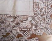 Lot of 5 Fabulous  Rectangular Lace Placemats,Linen Center Doilies for Repurpose, Home Decor, Wedding