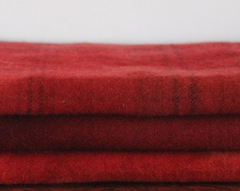 RED MIX hand-dyed wool for rug hooking and penny rugs