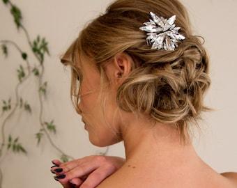 Bridal Hair Comb Swarovski Crystal Star
