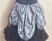 SALE Molten Silver Super Full Mini Length All Around Bustle Skirt-One Size Fits All