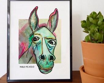 Pablo Pic-ass-o Fine Art Print - home decor, wall decor