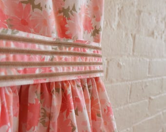 Spring Tea dress {pink dais} size 4-6