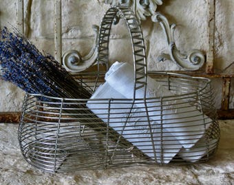 French Vintage Lovely Wire Basket