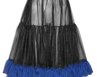 """Soft and Elegant Chiffon Petticoat... This is NOT your Grandmother's Square Dance Petticoat... up to 50"""" Hip and Custom Waist Measurement..."""