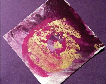 Magenta Swirl - Original Art, Acrylic Painting, breast painting, abstract art, canvas board