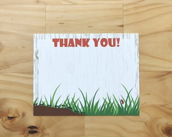 Bug Thank you Cards | Insect Thank you Card | Digital download | Boy Bug Thank You Card | Buggin' Out Thank You Card
