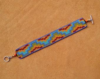 Southwest. Native. Loom Beaded Bracelet.