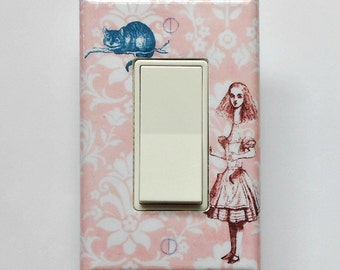Alice outlet cover plates with MATCHING SCREWS- Alice in Wonderland Alice nursery Alice electrical outlet outlets
