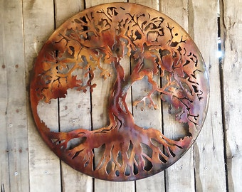 "Metal Art Tree Of Life 20"" with 1"" Ring to hold it away from the wall (D 16)"