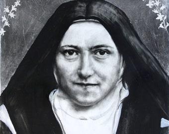 Saint Therese of Lisieux, The Little Flower- metallic print