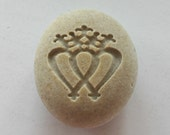 Luckenbooth Engraved Stone Scottish Broach