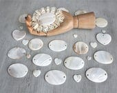studio destash - An instant collection of Mother of Pearl shell button pretties