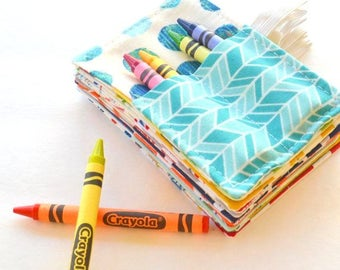 Mini Crayon Rolls, Birthday Party Favor, Set of 10, 4 Crayons Included, Art Party Favors, Wedding Favors for Children, Favors Under 5