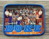 Duke Basketball Team Patch Iron On Sew Embroidered Photograph Blue Devils Vintage