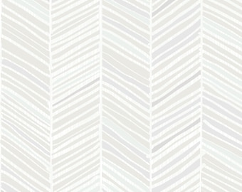 Modern Grey Herringbone Fabric - Herringbone Hues Of Grey By Friztin - Gray Herringbone Chevron Modern Home Decor Fabric With Spoonflower